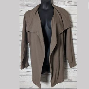 H by Halson SZ XL French Terry Open Front Jacket